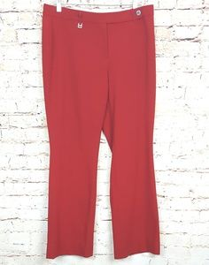 MICHEAL KORS|Red Career Trousers Pants Size 10